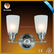 indoor double lights silver antique wall lights