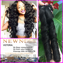 Factory price Indian virgin hair 100% natural human hair weft french curl hair extension