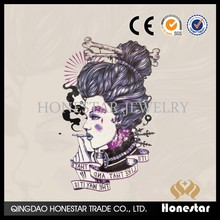 Honestar fashion jewelry temporary tattoo paper Japan girl arm sticker