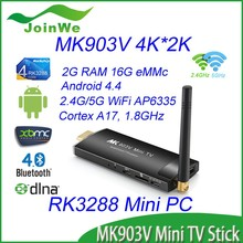 2015 Hottest Product Android TV Mini PC RK3288 Support H.265 Video Decoding MK903V Android4.4 TV Stick