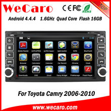 Wecaro made 7 inch Android car dvd player with gps for toyota camry 2006 GPS navigator TV Radio tuner CD Player
