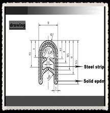 weather u channel rubber automotive seal strips