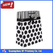 Black dot Reusable Paper Shopping Bag