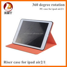 Fashionable Stand Rotaing Case PU+PC360 degree Swivel Case For Ipad Air Case