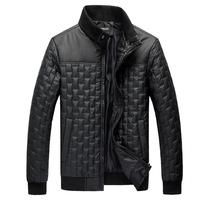 LSJK034 2015 Hot Selling Casual Men Coat Solid Color Elastic Collar Hem Design Man Warm Jacket