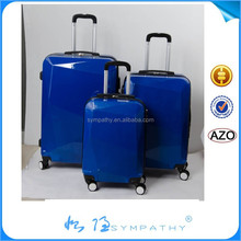 ABS waterproof oil proof ABS+PC travel trolley hard shell printing promotion aluminum trolley suitcase in 20, 24, 28