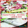 Customize Flower Digital Printed Cotton Denim Fabric