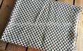 acrílico 50db41 tejido de punto de punto waffle mantas en blanco y negro