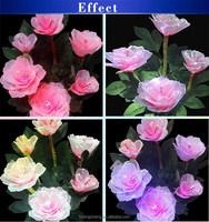 NO MOQ Color changing LED artificial flower light