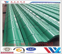 Color steel galvanized ridges