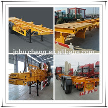 High payload 3/4 axles container carrier semi trailer/skeleton semi trailer/trailer parts