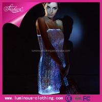 2015 hot sale fashion magical light inside dress/led el clothes supplier