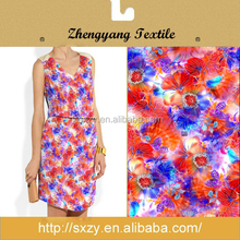 Soft and smooth polyester digital printed floral chiffon fabric