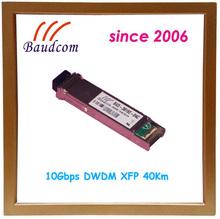 10Gbps DWDM XFP 40Km fiber optic transceiver with 1563.86nm wavelength
