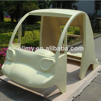 Fiberglass Reinforced Plastic car body made by hand lay up process