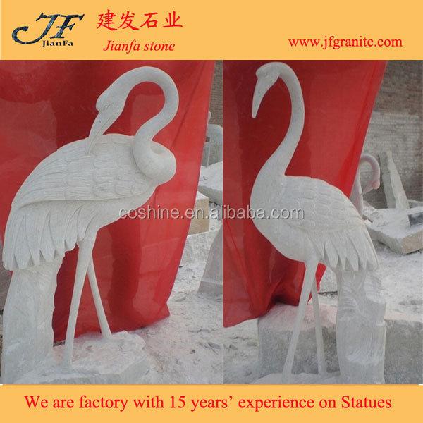 Antigo guindaste branco mármore grande pássaro estátua para venda