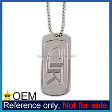 China Manufacturer Cheap Custom Made Stainless Steel Dog Tag Necklace