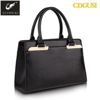 Top 100% high quality layer leather women genuine italian leather bag