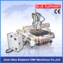 Manufacturer Directly Supply! ! ! 4x8ft cnc router for pattern making, cnc router auto tool changer with Japan YASKAWA servo