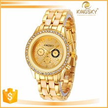 2015 kingsky 2187# multicolor interval silicone gift hot hand alloy watch