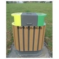 Solid Swim Pool rounds composite trash cans comes with good quality