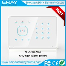 Touch screen 433MHZ RFID wireless home gsm alarm system support Android App remote control
