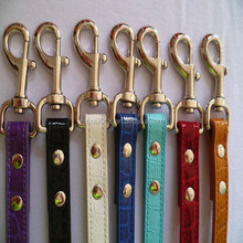 Wholesale dog produtcts colorful croc leather pet dog leash