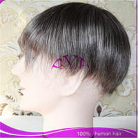 Alibaba Trade Assurance Paypal Accepted Natural Looking Hairline Indian Remy Human Hair Toupee / Wig For Men