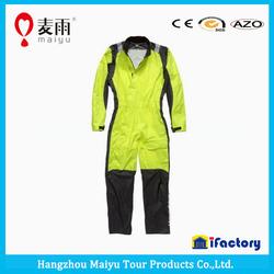 Maiyu Waterproof 190T Nylon Fabric Motorcycle Rainsuit