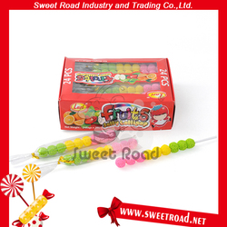3colors Fruits Jelly Lollipop
