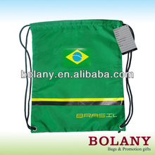 custom printed promotion drawstring backpack polyester shopping bag