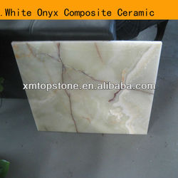 Nature white onyx composite ceramic