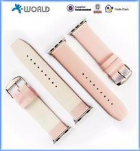 New design 2015 new trendy classic style watch band strap black cow leather strap for watch with great price