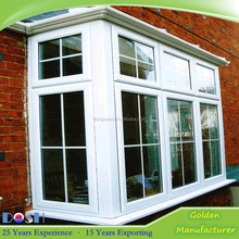Aluminum Corner Window With Grill Design for Balcony Window Design