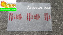 LDPE Asbestos clear plastic packing poly bag with red printing