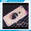 1.2mm transparent tpu cellphone cover with beautifule diamond and mirror