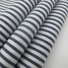 100% cotton black and white stripe shirt fabric of China factory