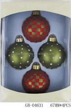 Wholesale diamond handblown glass ball ornaments for xmas decoration
