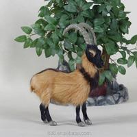 fake fur simulation life size plush goat toy
