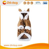 Chi-buy Factory Retailer Price Elk Pet Dog Christmas Costumes, Brown Color, MOQ:1 pc