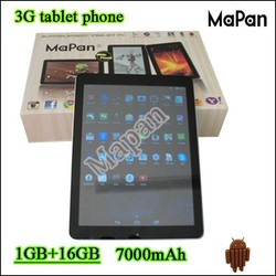 dual sim built-in 3g tablet pc very low cost/ hot style MaPan android4.4 tablet pc with 1GB RAM