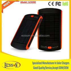 23000mah solar charger with 2.5W solar panel for fast charging, solar laptop charger for emergency