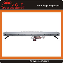 "55"" 108W LED WORK LIGHT BAR BEACONS SAFETY EMERGENCY WARNING STROBE LIGHTS AMBER"