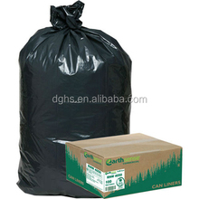 2015 Eco-friendly Refuse Sack On Roll Black Trash Bags Disposable Plastic Garbage Bags