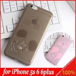 2015 New Lovely Mickey Mouse Clear JELLY TPU Gel Soft Cover Case For APPLE iPhone 5 5s 6 6plus
