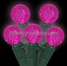 color changing solar led christmas light purple christmas ball light