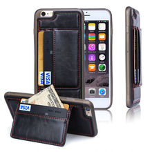 Multifunction Cell phone covers for iphone 6S plus,for iphone 6s plus cover with Credit Card Slot,leather case for iphone 6s
