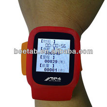wristband MP3 pedometer with Clock function