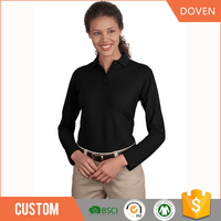 Custom polyester/cotton long sleeve t shirt for women