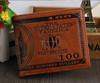 Fashion Short Printing Embossed Logo Bifold Leather Men's Wallet Purse U.S Dollar Purse Wallet